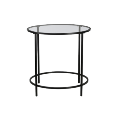 Round Glass Side Table $30