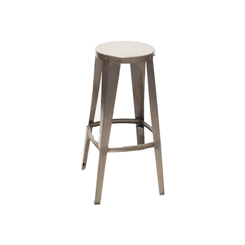 Round Metal Bar Stool