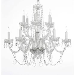 12-Light Large Crystal Chandelier