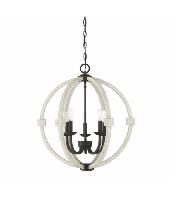 5-Light Globe Chandelier $75