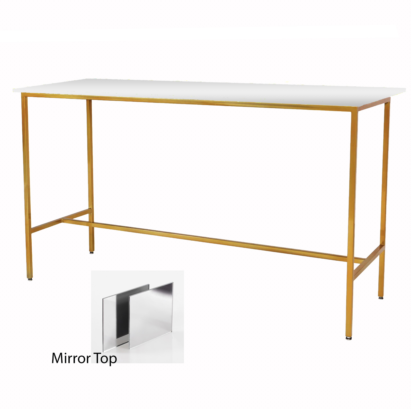 Mirror/Gold Taylor Communal Table  $150
