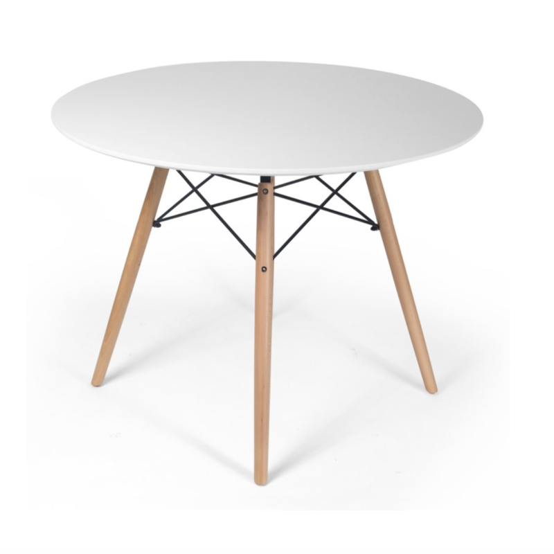 White Modern Dining Table  $75