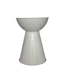 White Bongo Side Table $30