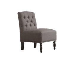 Chloe Grey Tufted Chair