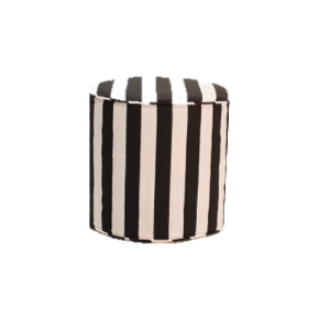 B&W Stripe Slipcover Ottoman $40