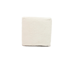 White Fur Slipcover Ottoman $40