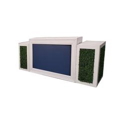 White Frame/Navy Insert with Hedge Pedestals $350