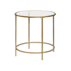 Gold Round Glass Side Table