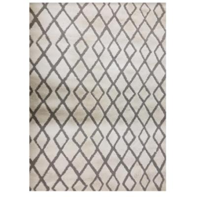 Ivory Grey Pattern Rug