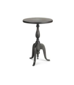 Black Pedestal Side Table $30