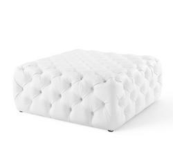 Large Sq. White Ottoman - $110