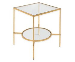 Square Gold Side Tables