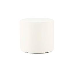 White Jute Round Slipcover Ottoman $40