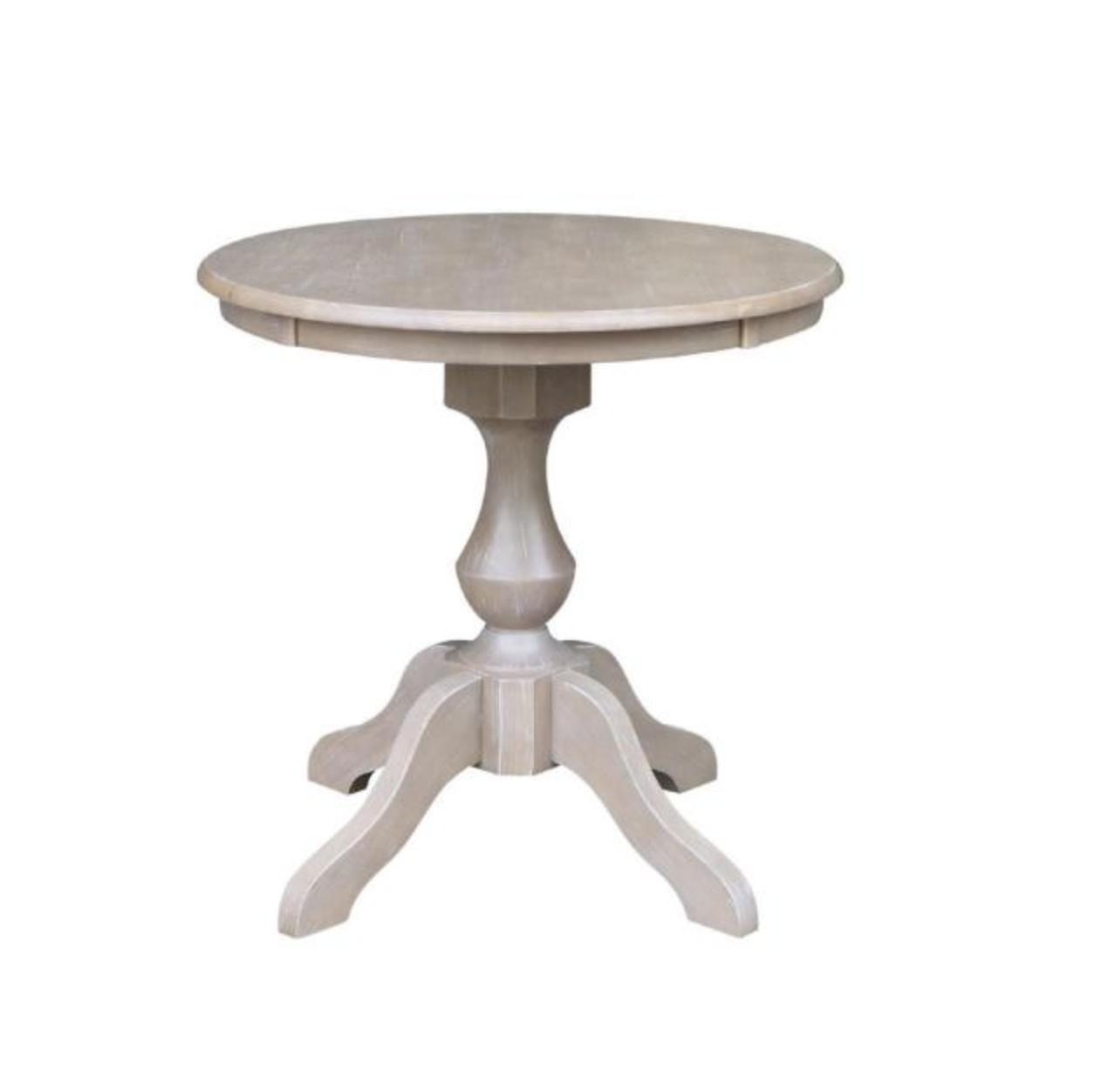 "Eliza 30"" Rd Wood Pedestal Dining Table $65"