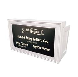 White Frame/Chalkboard Insert $250