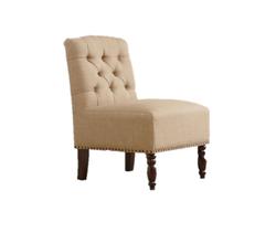 Chloe Beige Tufted Chair