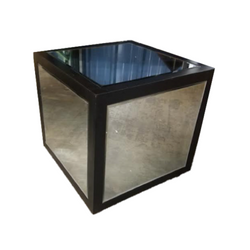 Black Frame Mirror Side Table