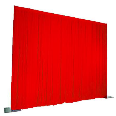 Red Event Drape