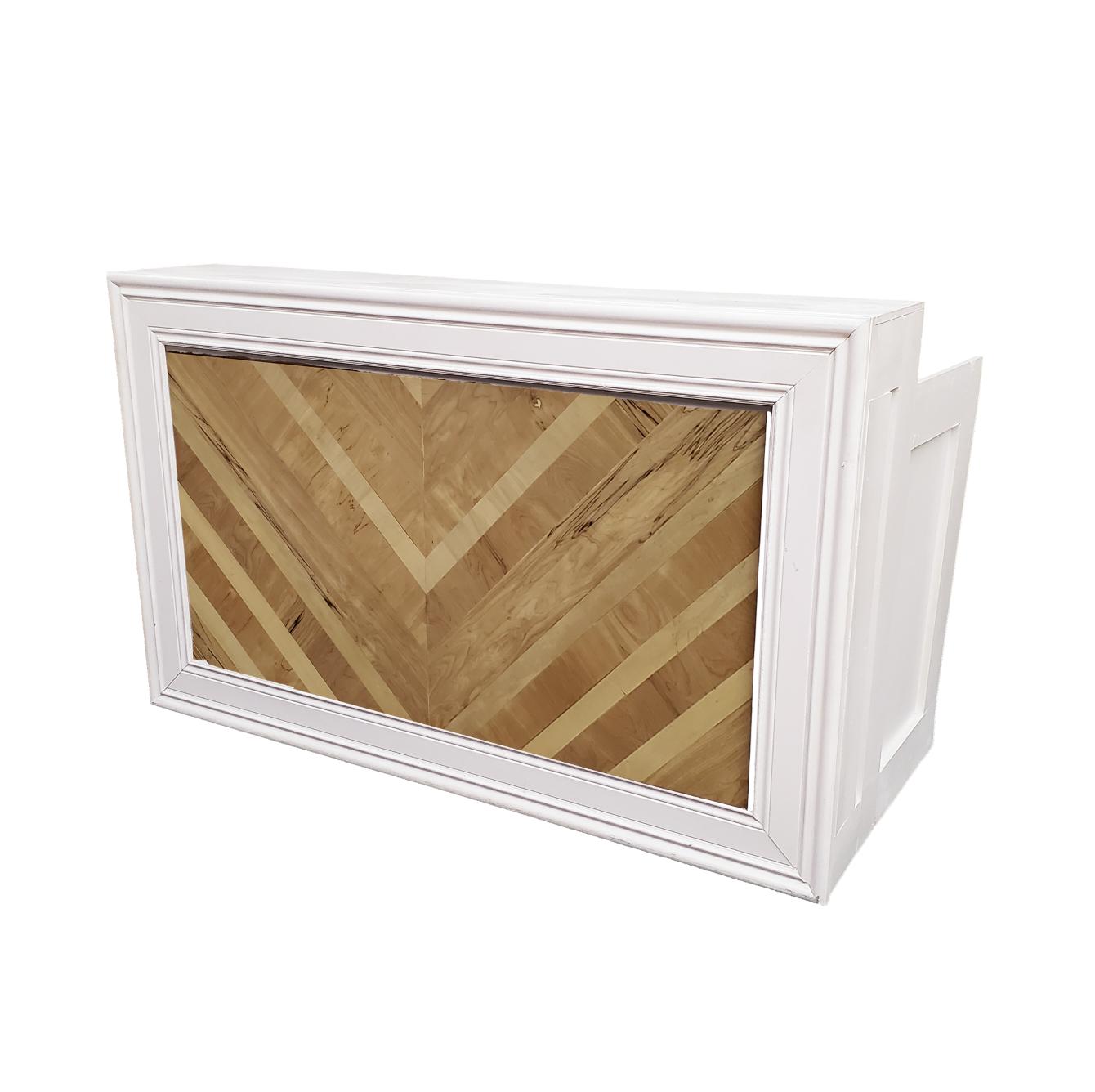 White Frame/Herringbone Insert $250