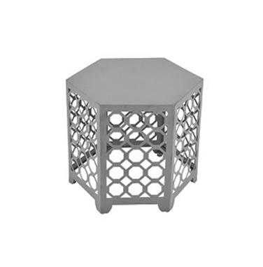 Hexagon Silver Side Table  $20