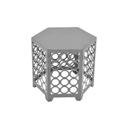 Hexagon Silver Side Table