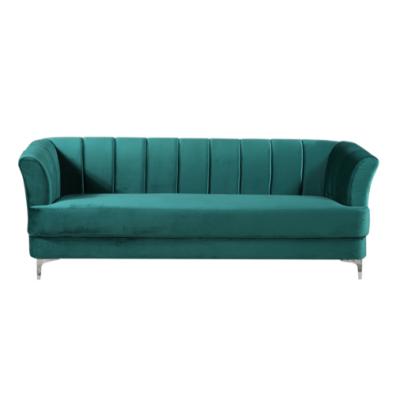 Becca Green Velvet Sofa