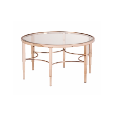 Sybil Metallic Rose Gold Coffee Table