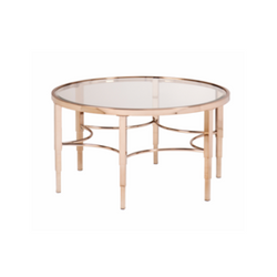 Sybil Metallic Rose Gold Coffee Table
