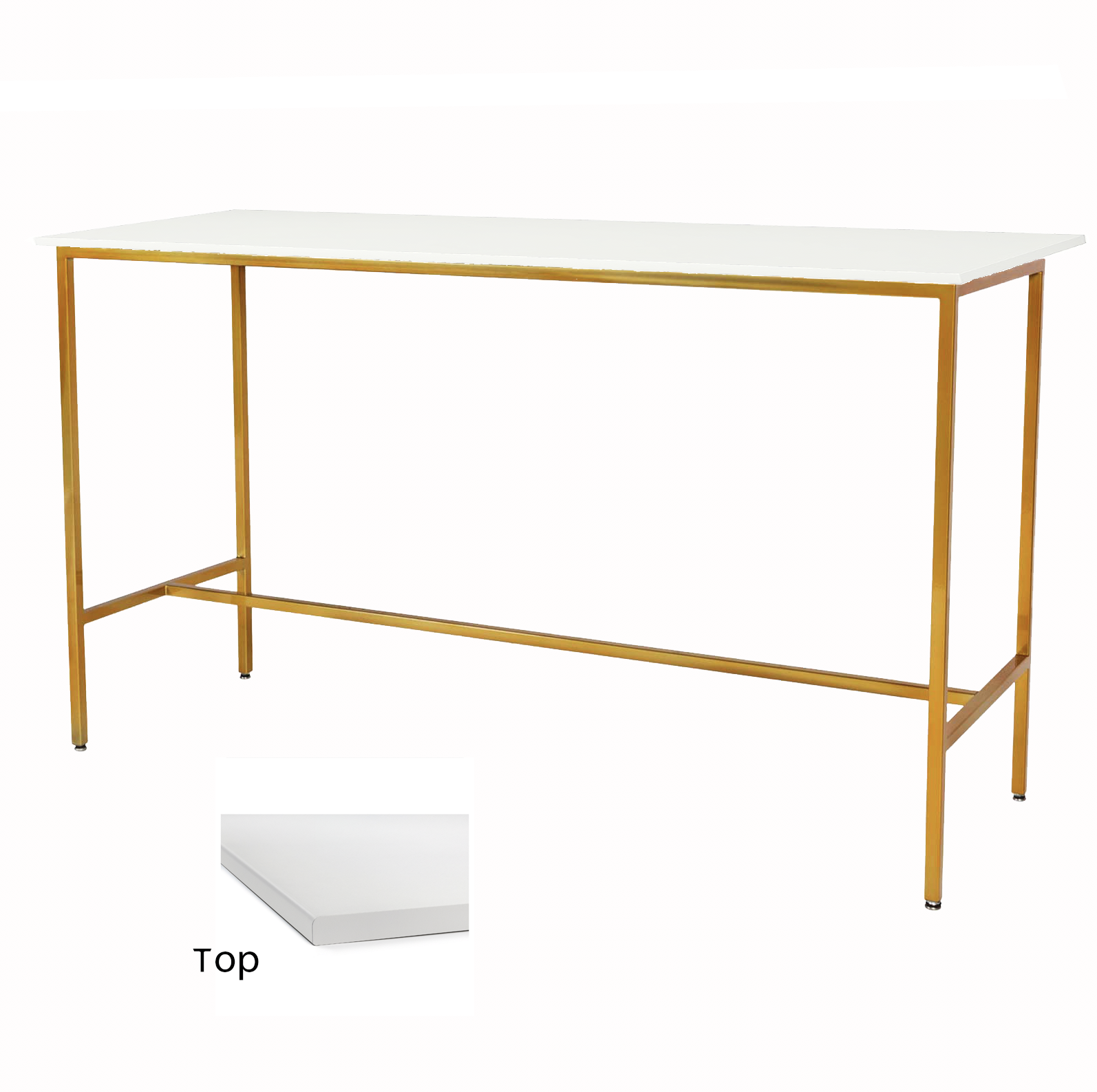 White/Gold Taylor Communal Table  $100