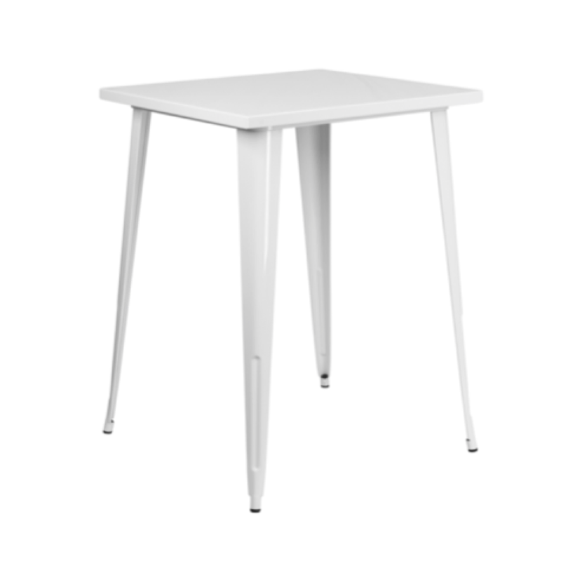 White Square Cocktail Table  $75