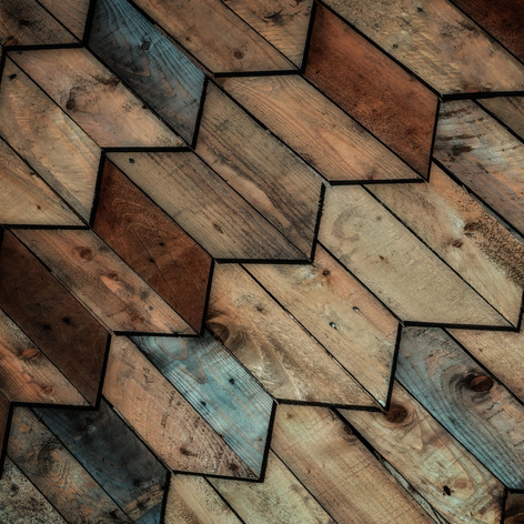 Recycled timber shingles