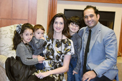 Pastor Steven Khoury standing next to his wife Shari and their three kids.