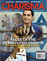 The cover of Charisma magazine, with Pasto Steve Khour on the front.