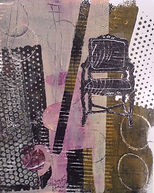 chair and dots by Dorothy Ganek