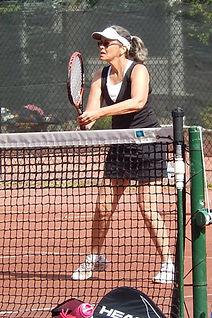 Playing tennis at Berkeley