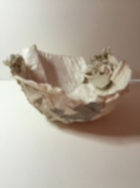white paper bowl by Dorothy Ganek