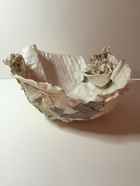 white paper bowl by Dorothy Ganek