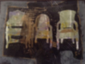 Three Chairs by Dorothy Ganek