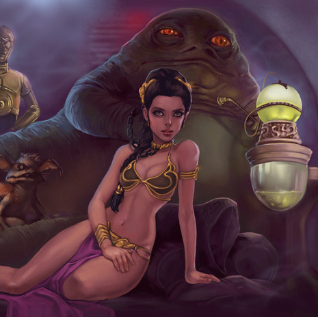 Princess Leia and Jabba kamillyonsiya.jp