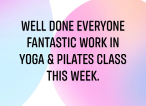 Great work in live classes this week