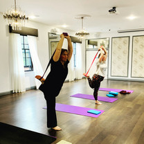 Dancers Pose in Yoga Class