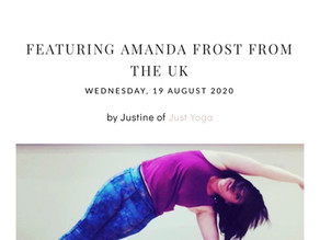 Meet Amanda Frost - Yoga & Pilates Teacher in an interview with Just Yoga