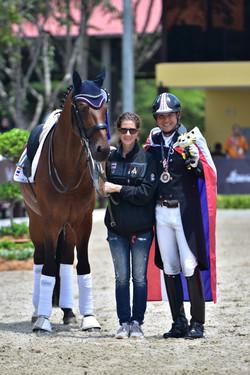 With Coach Johanna von Fircks