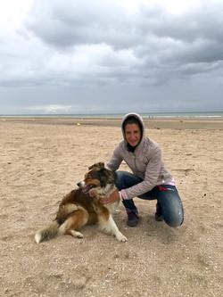 Johanna & Lilly on Deauville beach