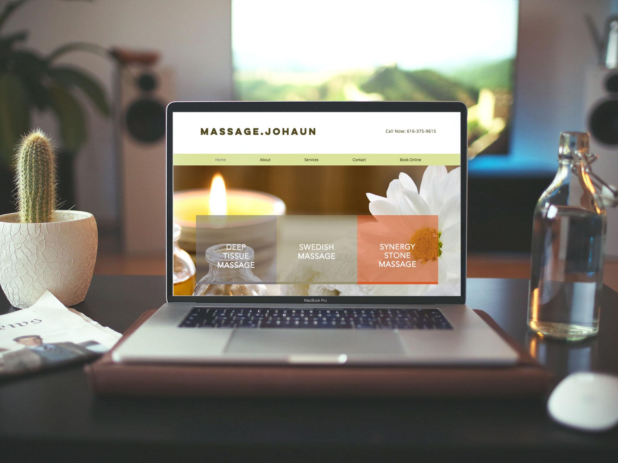 Mobile Massage Website