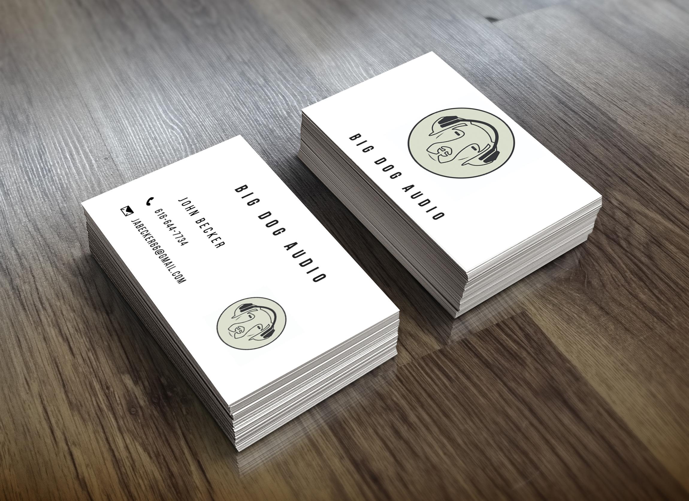 Audio Company Logo + Business Card