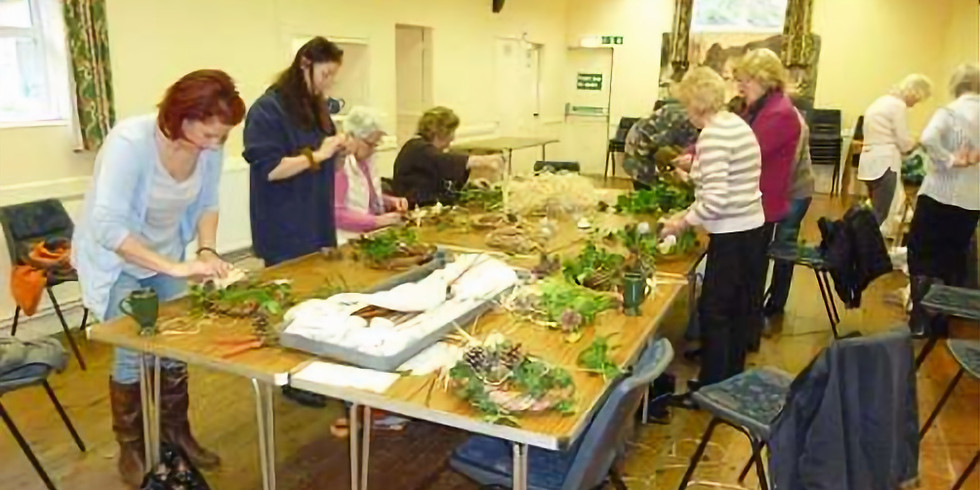 Christmas willow wreath workshop