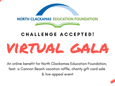 You're Invited to NCEF's Challenge Accepted Virtual Gala