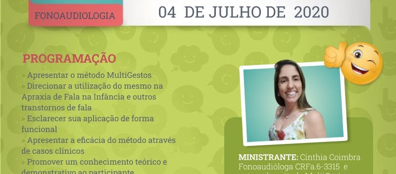 Belo Horizonte - Junho - Curso Multigestos -Fala