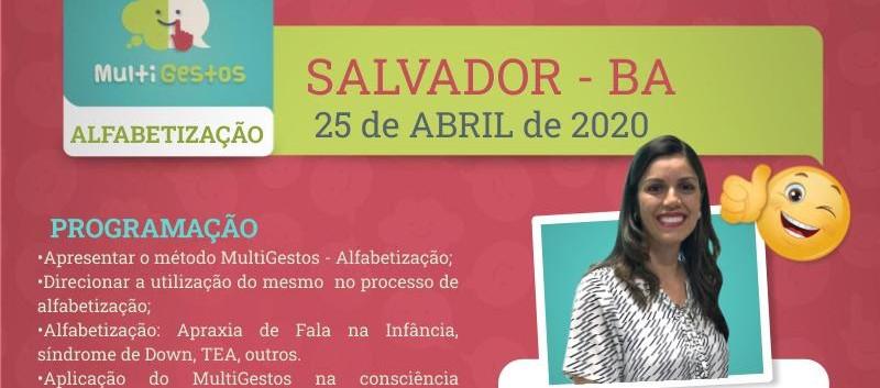 Abril - Salvador - Curso Multigestos - Alfabetização